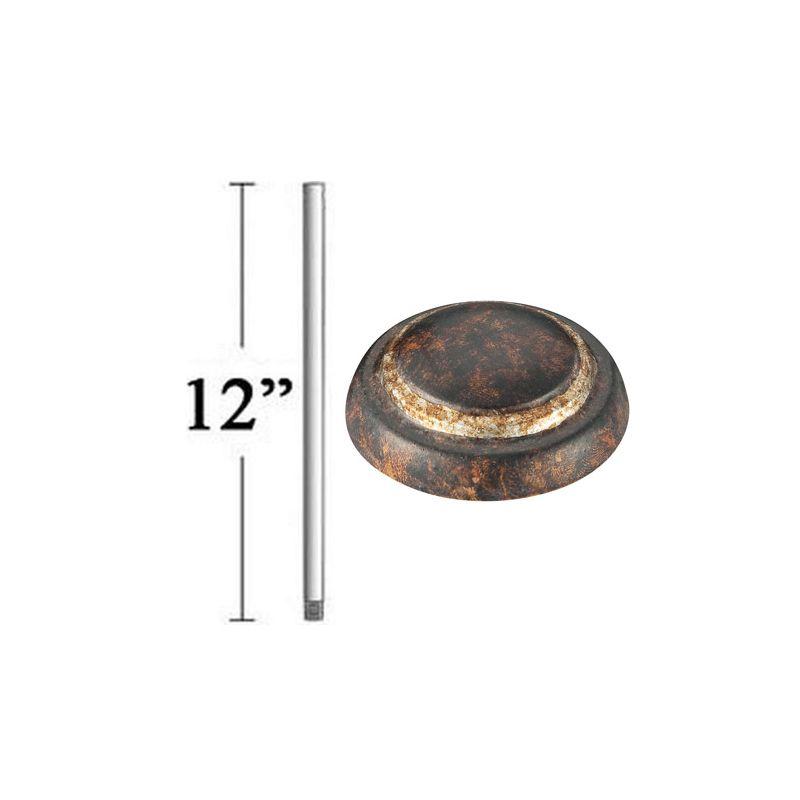 """MinkaAire MA DR512 12"""" Minka Aire Ceiling Fan Down Rod Mottled Copper"""
