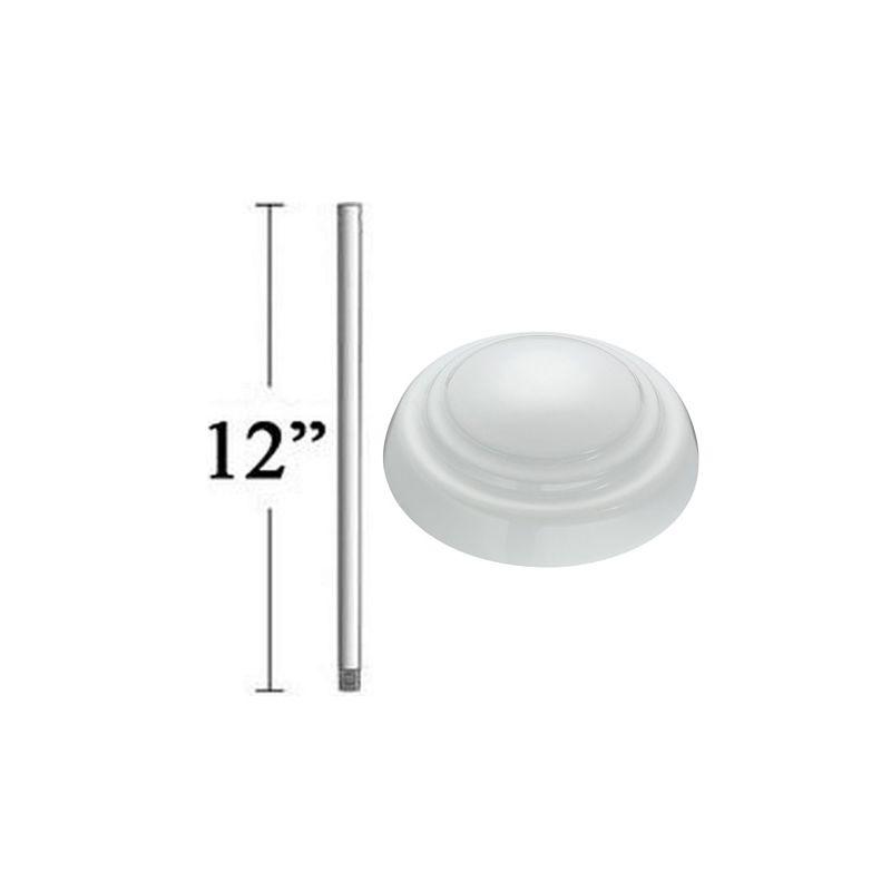 """Minka Aire 12"""" Ceiling Fan Downrod 3/4"""" in Diameter in White DR512-44"""