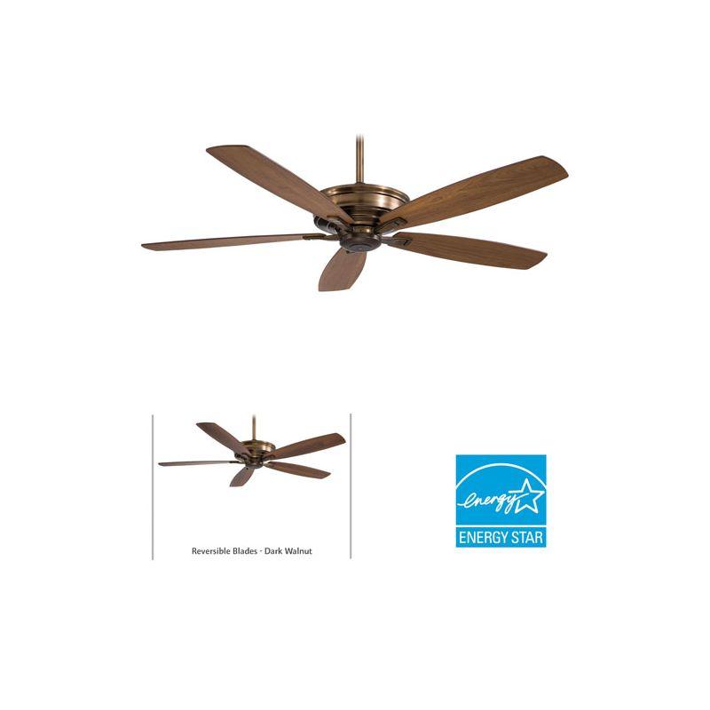 "MinkaAire Kafe-XL 5 Blade 60"" Kafe-XL Energy Star Indoor Ceiling Fan - Sale $339.95 ITEM: bci1952433 ID#:F696-CC UPC: 706411042768 :"