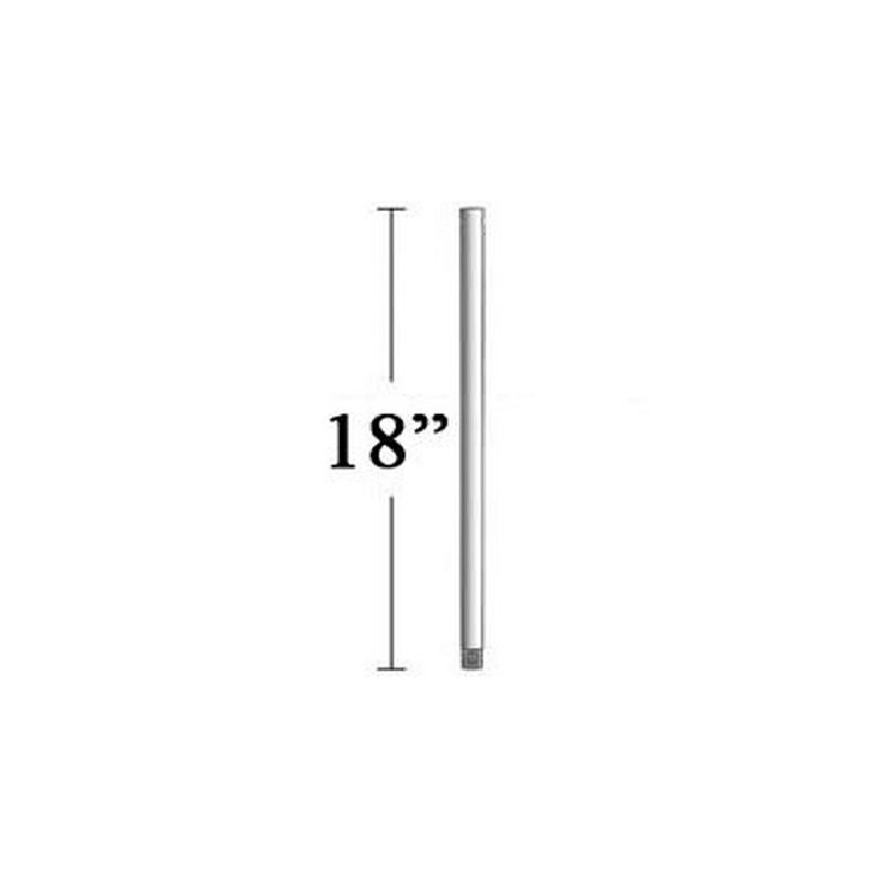MinkaAire MA DR518 18 Inch DR5 Series Downrod Wood with Antique Silver