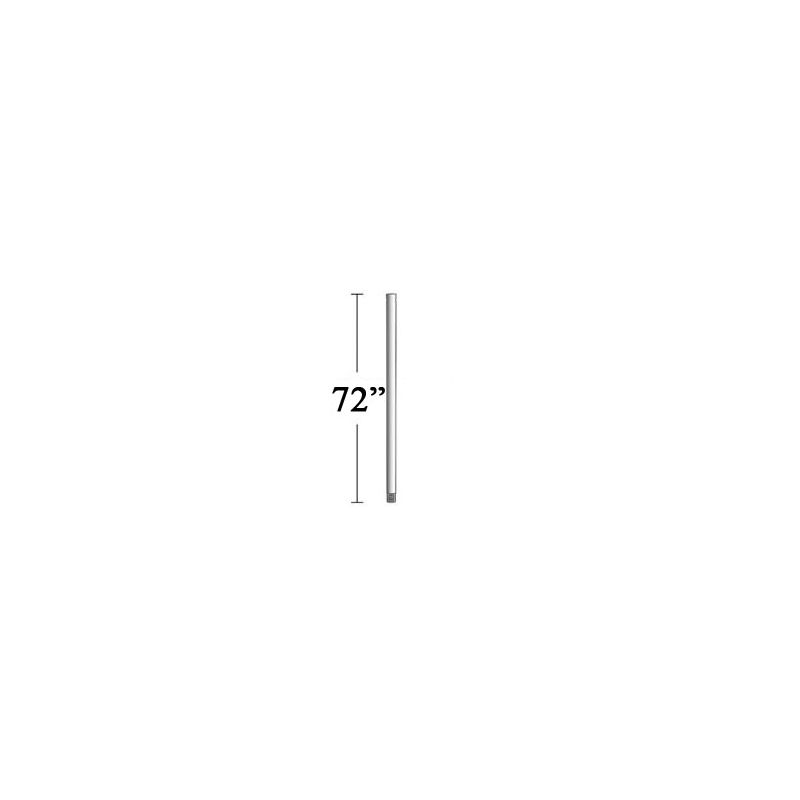 "MinkaAire MA DR572 72"" Down Rod for MinkaAire Ceiling Fans Silver"