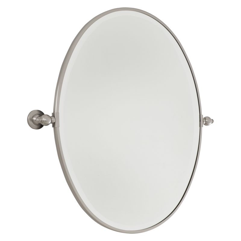 Minka Lavery Modern Oval Mirror in Brushed Nickel 1431-84
