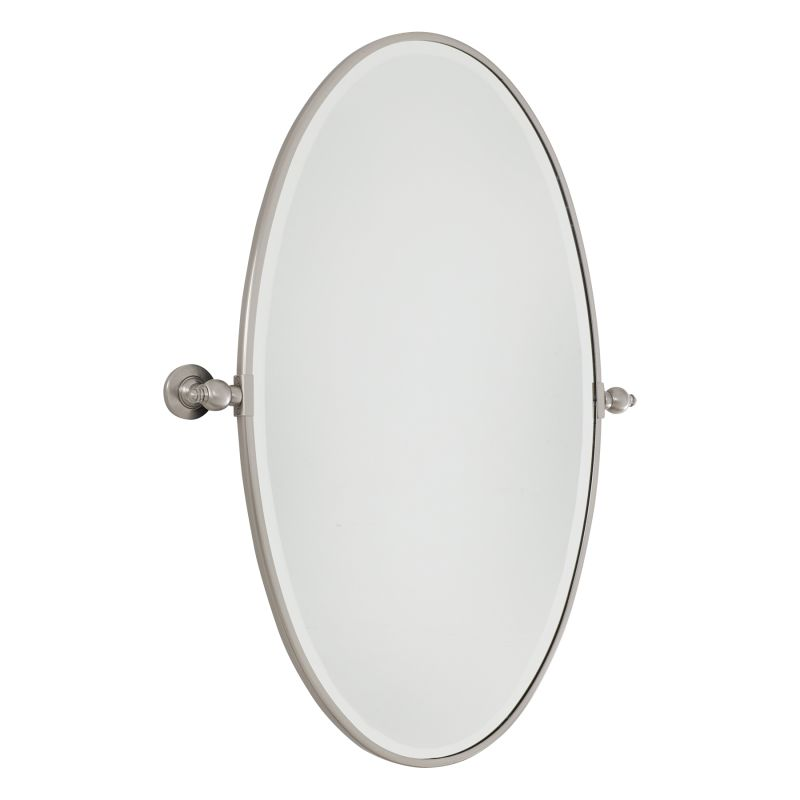 Minka Lavery 1432 Extra Large Oval Pivoting Bathroom Mirror Brushed