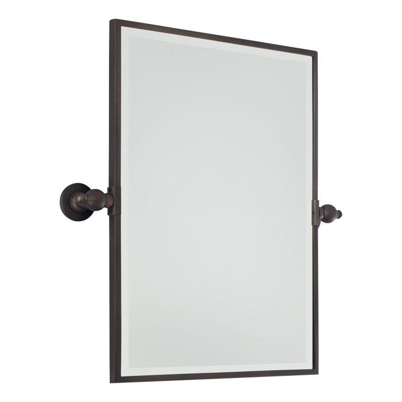 Minka Lavery 1440 Standard Rectangle Pivoting Bathroom Mirror Dark