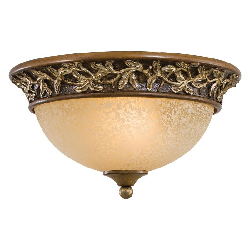 minka lavery 1569 477 florence patina 2 light flush mount