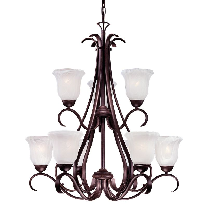 Minka Lavery ML 1648A-PL 9 Light 2 Tier Chandelier from the Marche