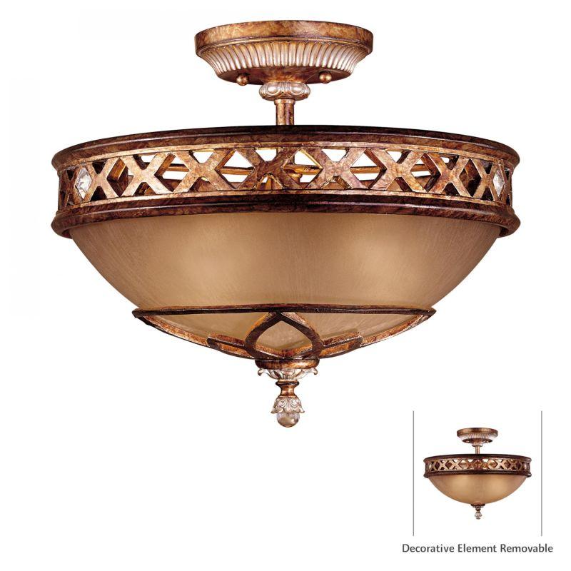 "Minka Lavery ML 1757 3 Light 13.25"" Height Semi-Flush Ceiling Fixture"
