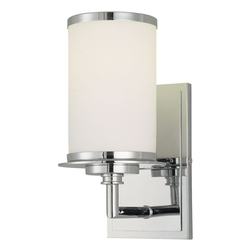 Wall Sconce Bathroom Height : Minka Lavery 3721-77-PL Chrome 1 Light 9.75