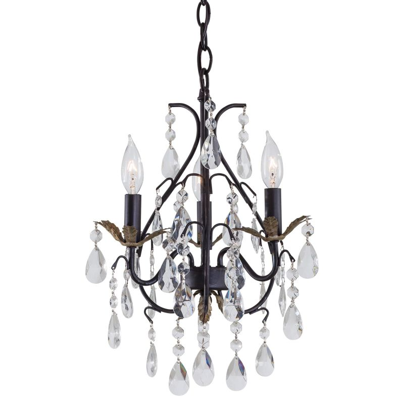 Minka Lavery ML 3122 3 Light 1 Tier Mini Crystal Chandelier from the