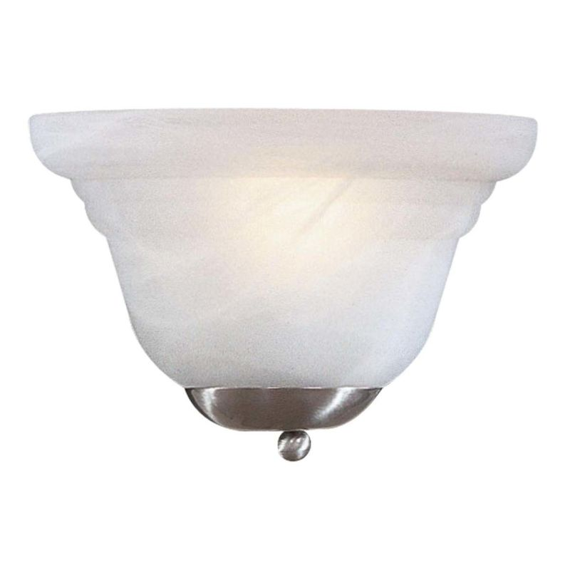 Mink Glass Wall Lights : Minka Lavery 412 Brushed Nickel 1 Light 8