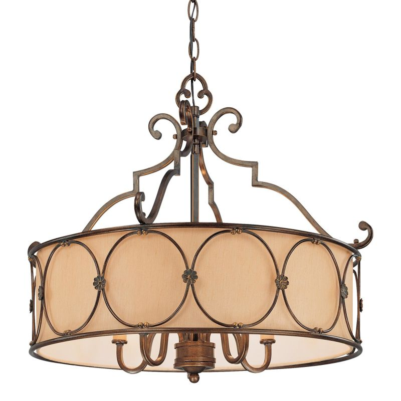 Minka Lavery 4236 5 Light 1 Tier Drum Chandelier from the Atterbury