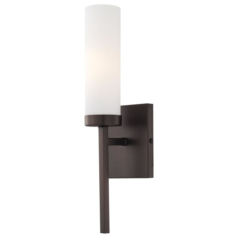 Mink Glass Wall Lights : Minka Lavery 4460-273 Aged Patina Iron With Travertine Stone 1 Light ADA Wall Sconce from the ...