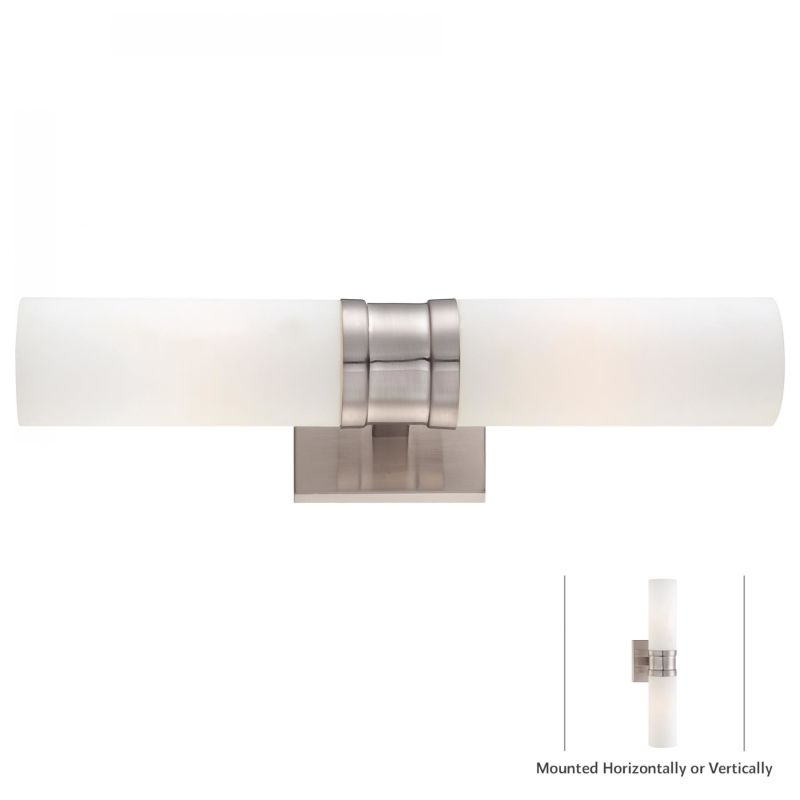 Minka Lavery 4462-84 Nickel Contemporary Compositions Wall Sconce