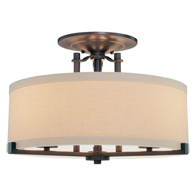 Minka Lavery 4499 3 Light Semi-Flush Ceiling Fixture from the Ansmith