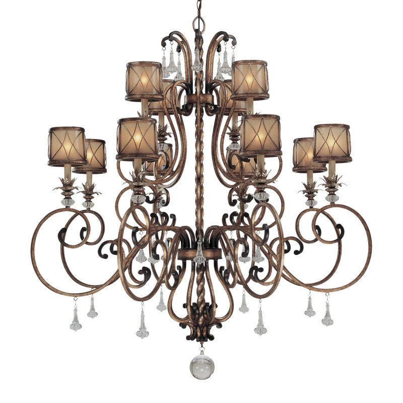 Minka Lavery 4758 12 Light 2 Tier Crystal Chandelier from the Aston