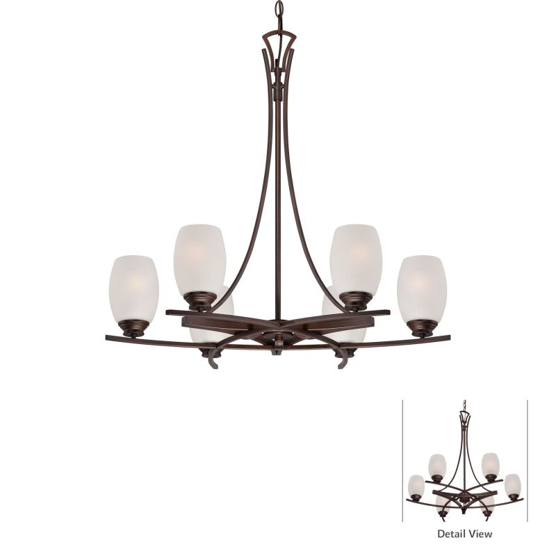 Minka Lavery 4956-267B 6 Light 1 Tier Chandelier from the City Club