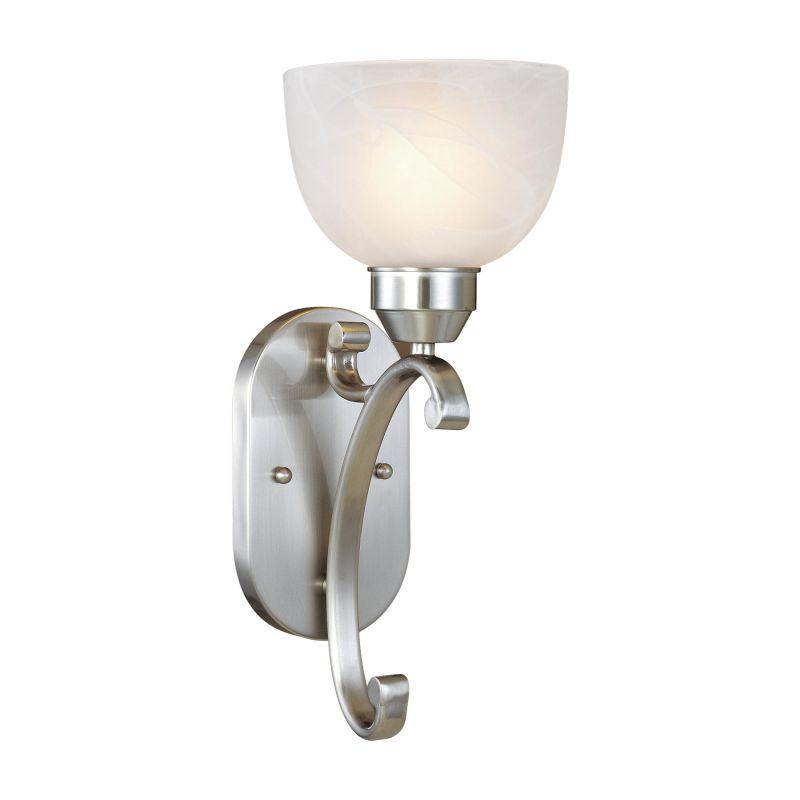 Mink Glass Wall Lights : Minka Lavery 5420-84 Brushed Nickel 1 Light 6.25