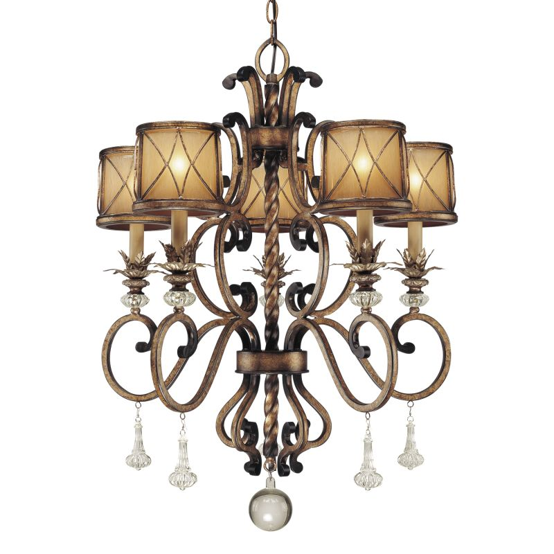 """Minka Lavery 4755 5 Light 32.75"""" Height 1 Tier Crystal Chandelier from"""