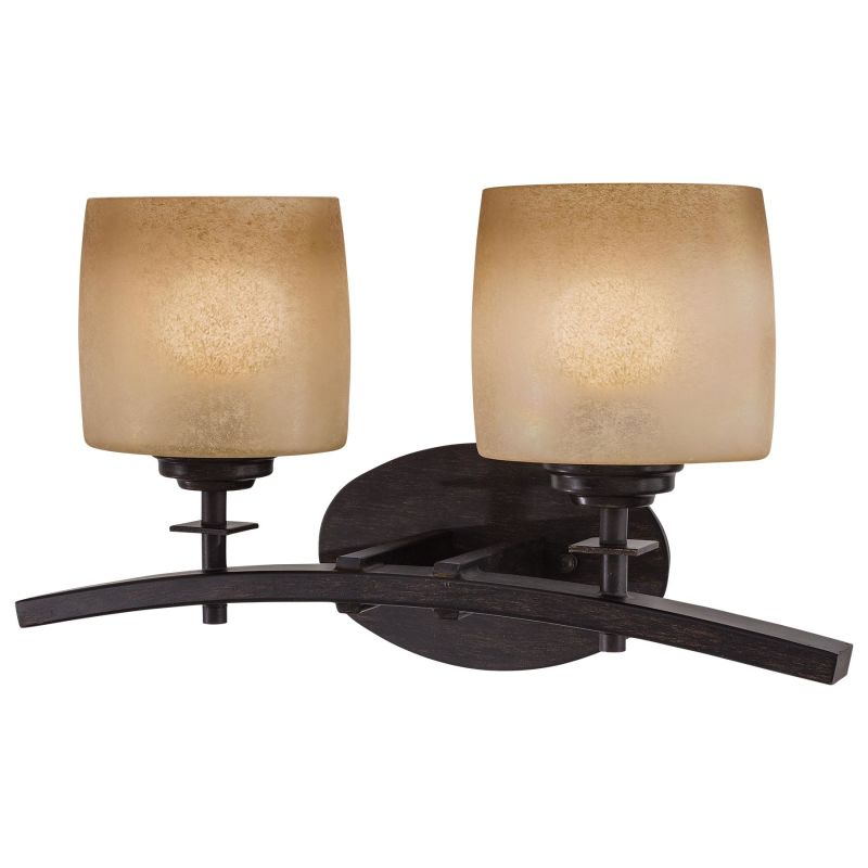 Minka lavery 6182 84 brushed nickel 2 light bathroom vanity light from the contemporary bath art for Minka bathroom light fixtures