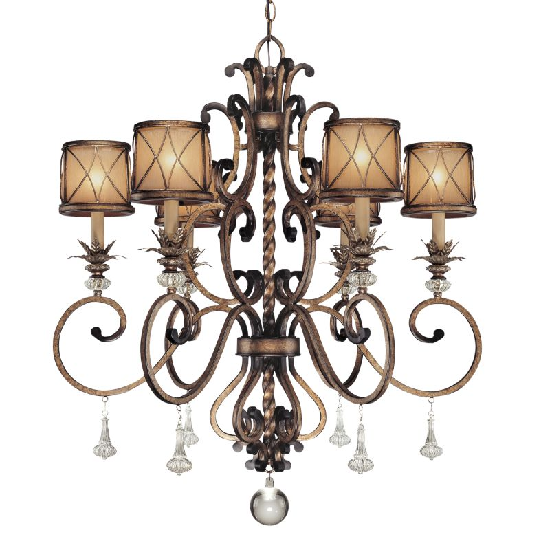 """Minka Lavery 4757 6 Light 36.75"""" Height 1 Tier Crystal Chandelier from"""