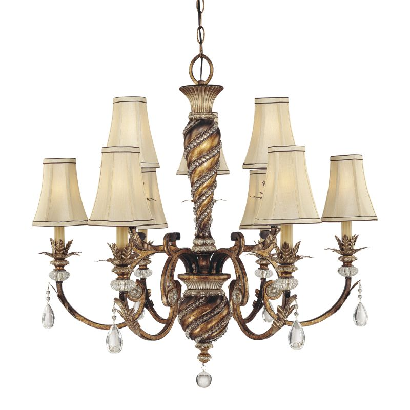 Minka Lavery ML 1748 9 Light 2 Tier Crystal Chandelier from the Aston