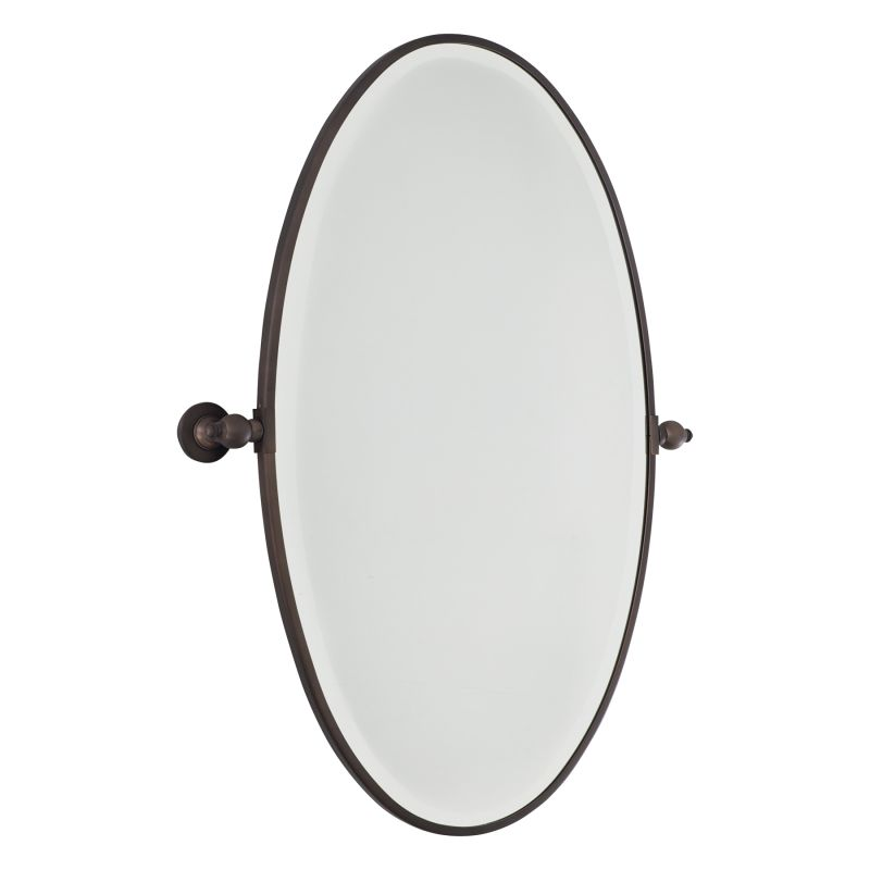 Minka Lavery 1432 Extra Large Oval Pivoting Bathroom Mirror Dark