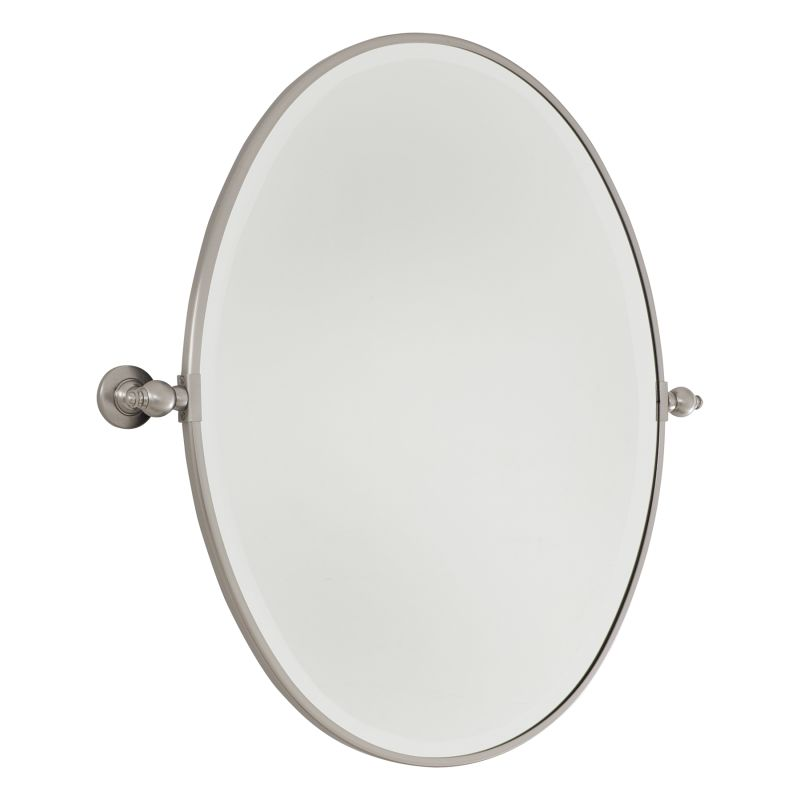 Minka Lavery 1433 Large Oval Pivoting Bathroom Mirror Brushed Nickel