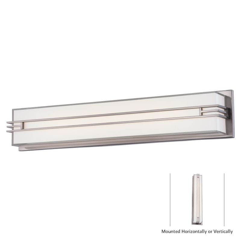 "Minka Lavery 2943-84-L 1 Light 26.5"" Width LED ADA Bath Bar from the"