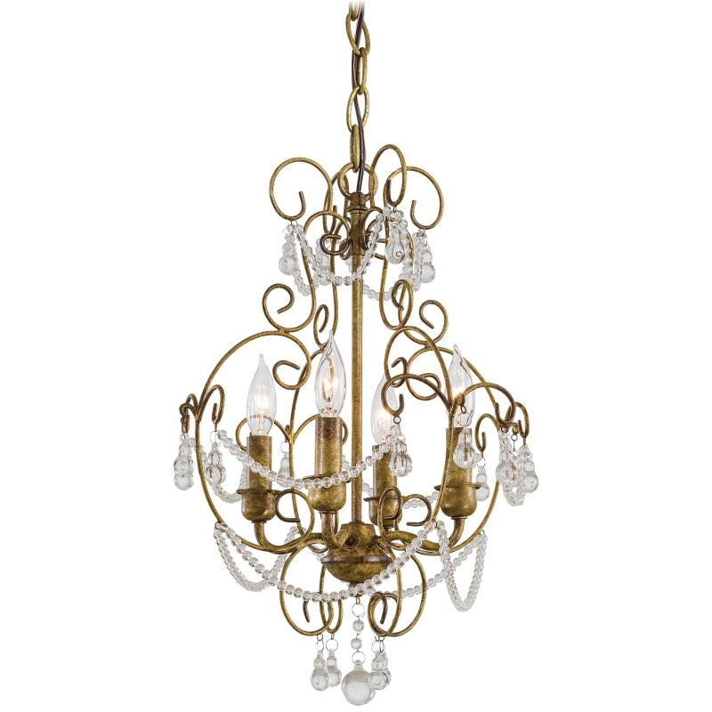Minka Lavery ML 3129 4 Light 1 Tier Candle Style Crystal Chandelier