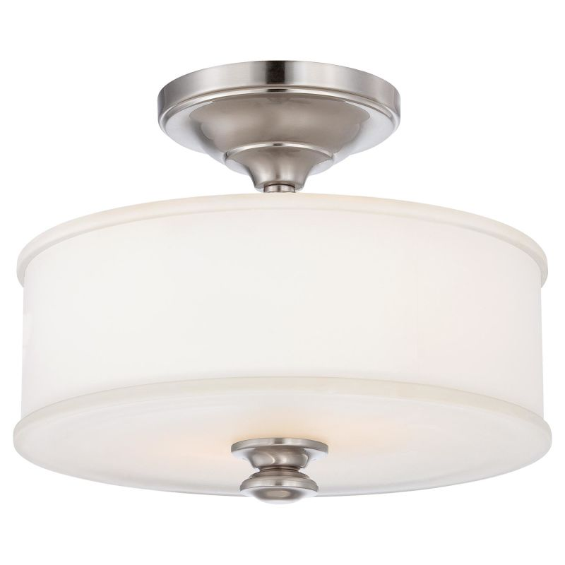 minka lavery 4172 84 brushed nickel 2 light semi flush ceiling fixture in brushed nickel from