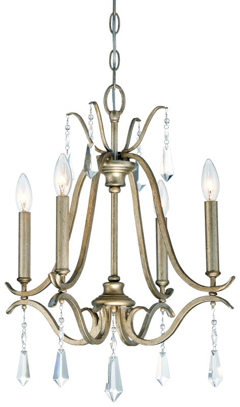 Minka Lavery 4444-582 4 Light One Tier Mini Chandelier from the Laurel