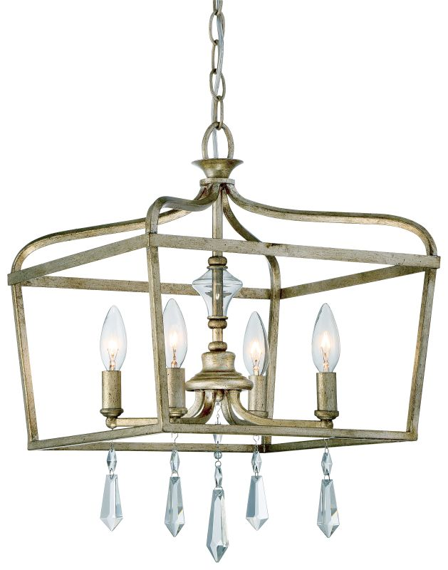 Minka Lavery 4447-582 4 Light One Tier Mini Chandelier from the Laurel