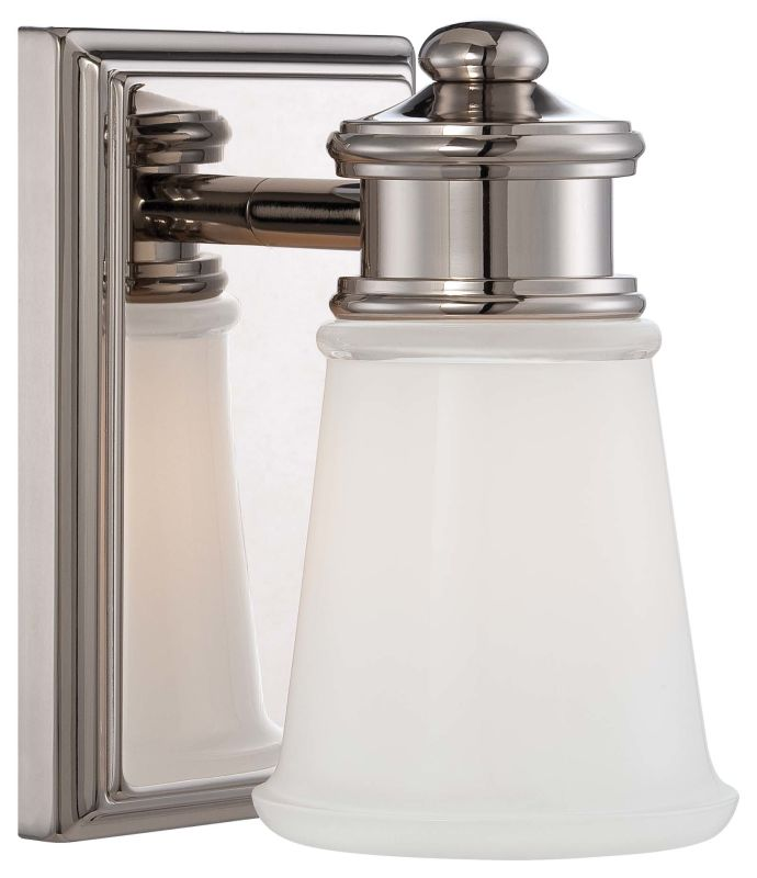 Minka Lavery 4531-613 1 Light 7.5&quote Height Bathroom Sconce with Clear /