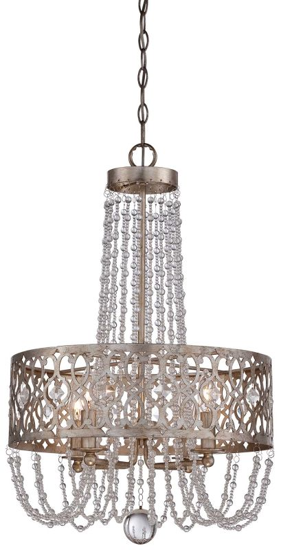 Minka Lavery 4844-276 4 Light 1 Tier Drum Chandelier from the Lucero