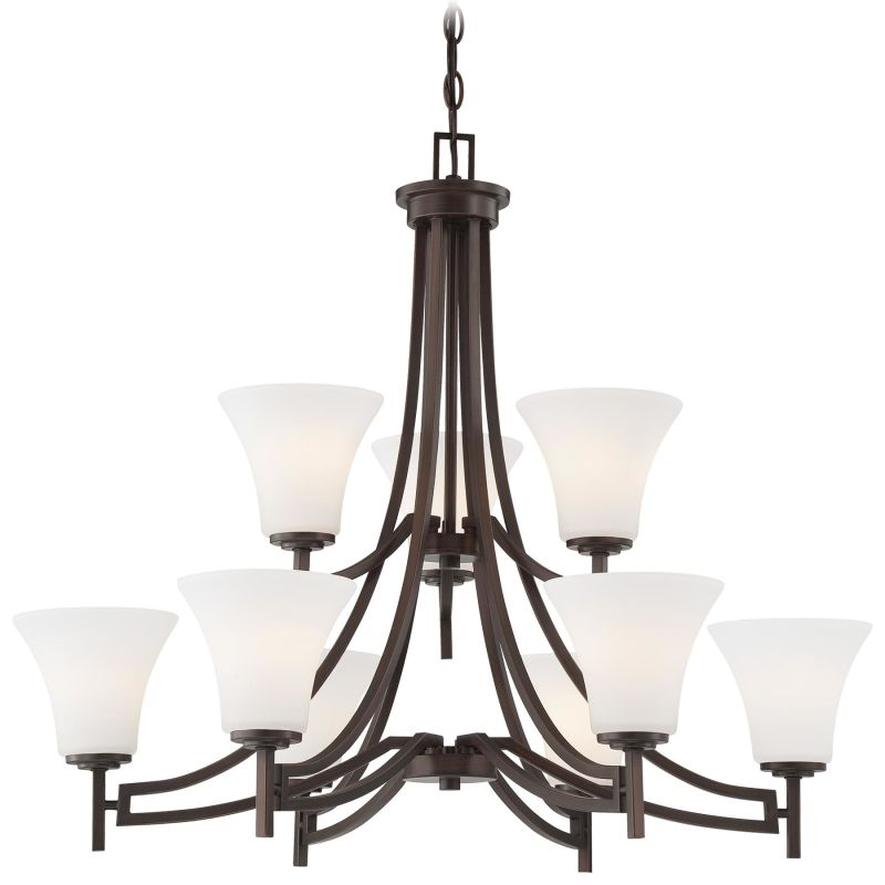 Minka Lavery 4939 9 Light 2 Tier Chandelier from the Middlebrook
