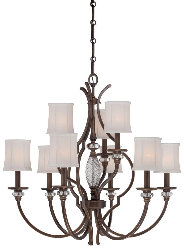 Minka Lavery 4949-570 9 Light 2 Tier Chandelier from the Thorndale