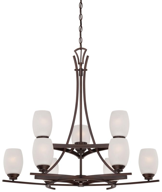 Minka Lavery 4959-267B 9 Light 2 Tier Chandelier from the City Club