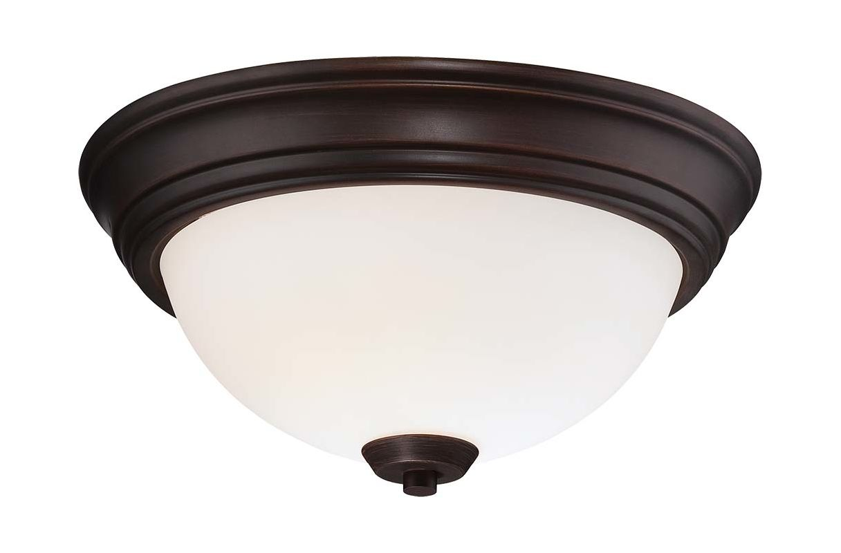 Minka Lavery 4960-284 2 Light Flush Mount Ceiling Fixture in Brushed