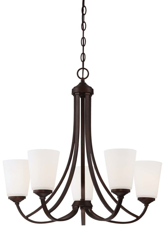 Minka Lavery 4965-284 5 Light 1 Tier Chandelier from the Overland Park