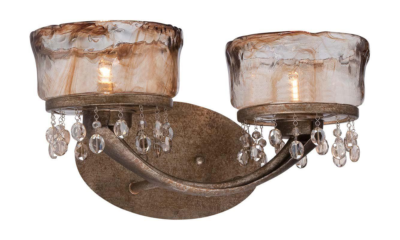 Minka Lavery 6992 2 Light Bathroom Vanity Light with Crystal Accents