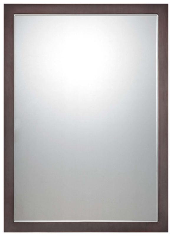 "Minka Lavery 1430 Paradox 33"" High Rectangular Mirror with Beveled"