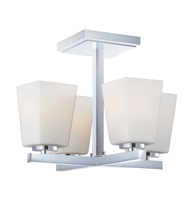 Minka Lavery 1542 4 Light Semi-Flush Ceiling Fixture from the City Sale $139.00 ITEM: bci1723066 ID#:1542-77 UPC: 747396077017 :