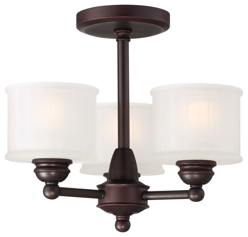 Minka Lavery 1738 3 Light Semi-Flush Ceiling Fixture from the 1730