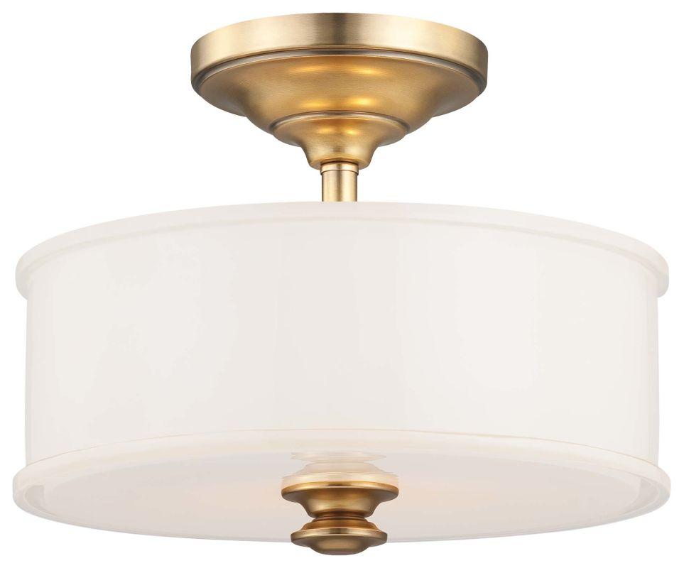 Minka Lavery 4172 2 Light Semi-Flush Ceiling Fixture in Liberty Gold