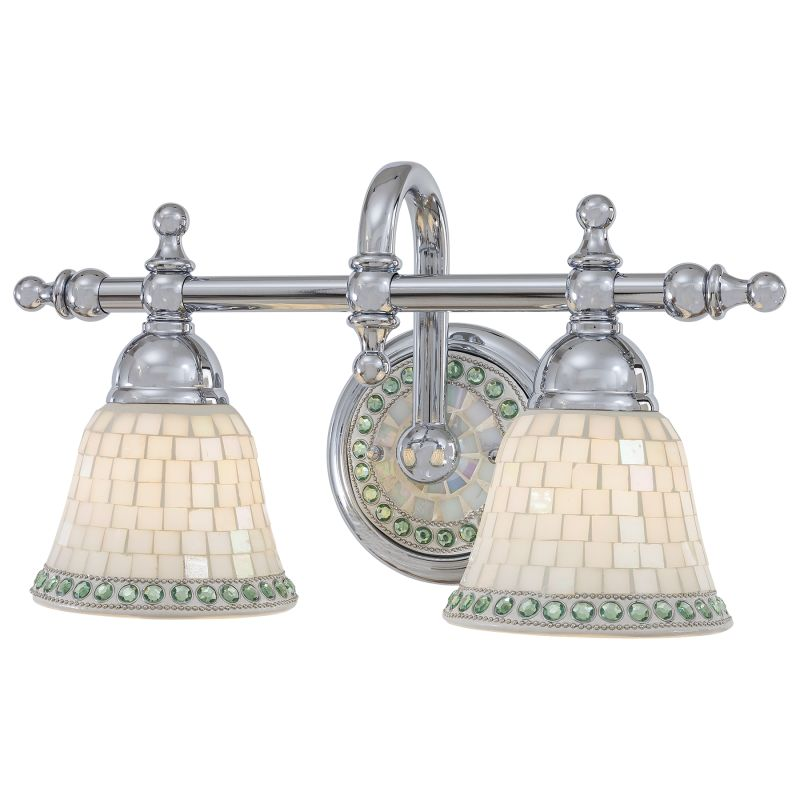 Minka lavery 6052 77 chrome 2 light bathroom vanity light from the piastrella collection for Minka bathroom light fixtures