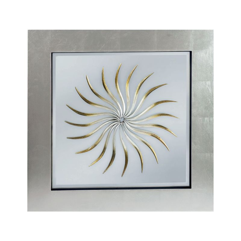 "Mirror Masters MW1556 Argus 32"" Square Mirror with Starburst Overlay"