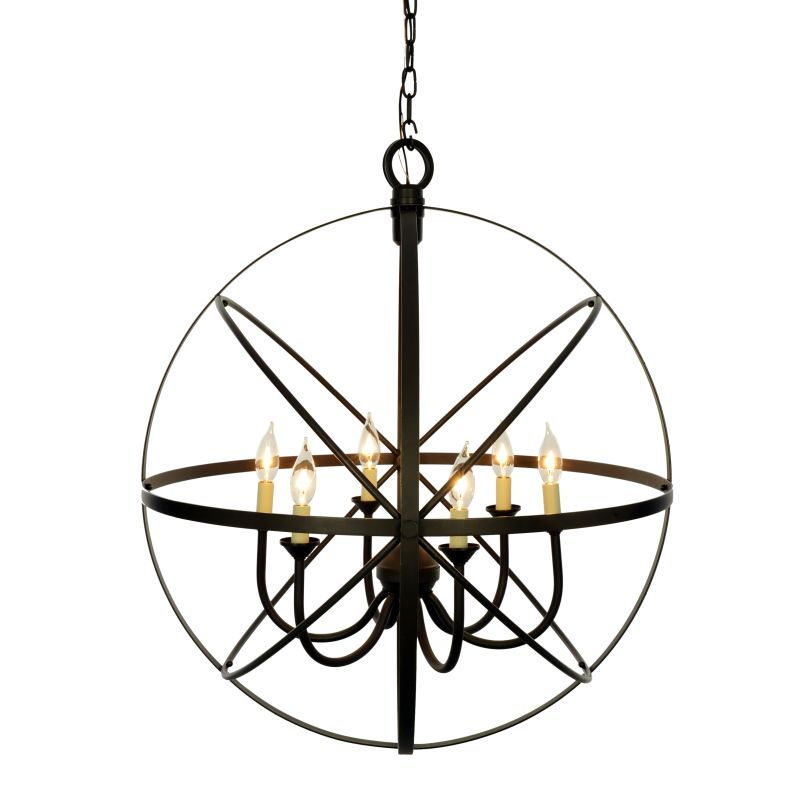 Miseno MLIT155241 6-Light Cage Orb Chandelier Oil Rubbed Bronze Indoor