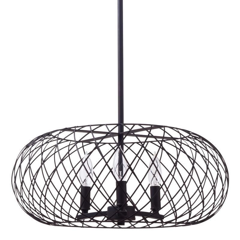 Miseno MLIT145041 3-Light Full-Sized Cage Style Pendant Olde Bronze