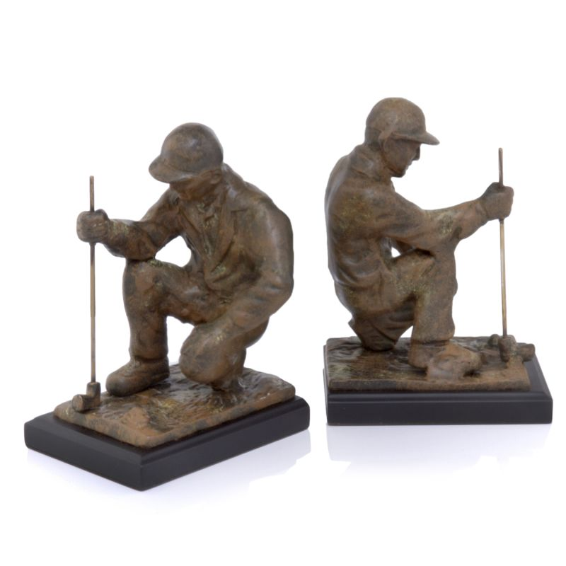 Modern Day Accents 3468 Copa Golfer Bookends Brown Home Decor Bookends