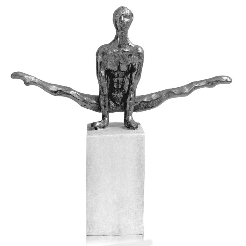Modern Day Accents 7711 Partido Pommel Gymnast Silver Home Decor